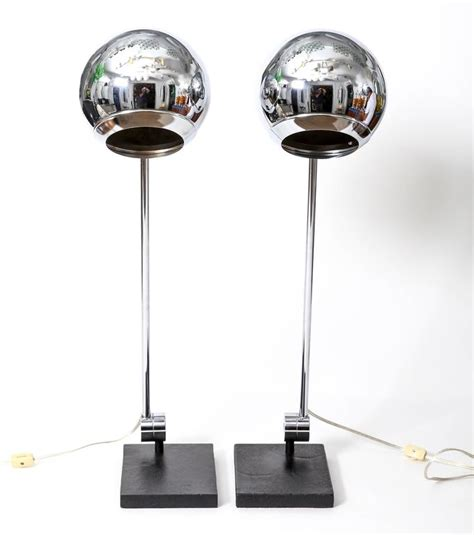 Orb Table L Pair Of Polished Metal Orb Table Ls By Robert Sonneman For Sale At 1stdibs
