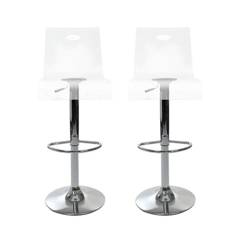Tabourets De Bar Transparents by Tabourets De Bar Design Saturne Transparent X 2 Achat
