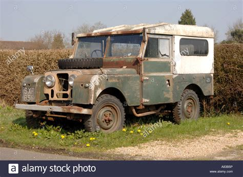Abandon The Series abandoned series 1 land rover stock photo royalty free