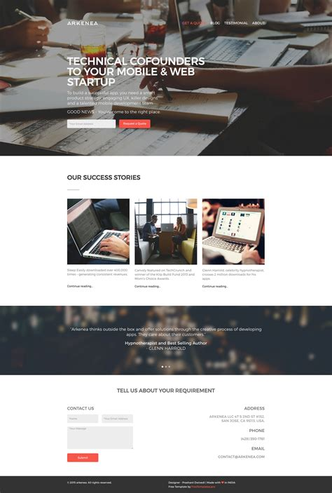 professional html website templates free free arkenea website template html free html5 templates