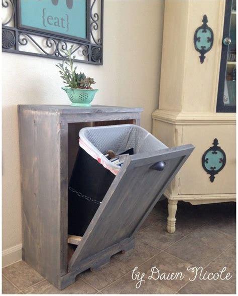 meuble cache poubelle cuisine diy dissimuler la poubelle floriane lemari 233