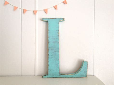 Letter Decoration Decoration Wood Letters Cottage Wall Decor By Oldnewagain