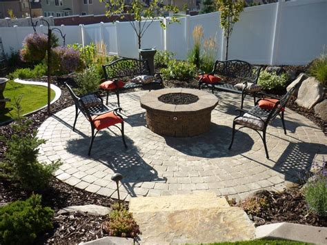 Paver Patios With Fire Pits For Yard Pinterest Paver Patio Pit