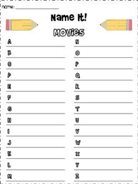 printable alphabet games for adults word work game name it the alphabet student and words