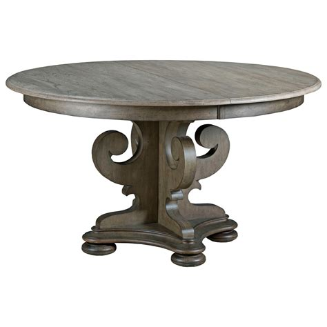 Pedestal Dining Table With Leaf Furniture Greyson 608 701p Grant Scrolled Pedestal Dining Table With One Extension