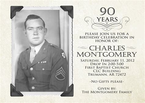 Create Easy 90th Birthday Invitations Designs Ideas Egreeting Ecards 90th Birthday Invitations Templates Free