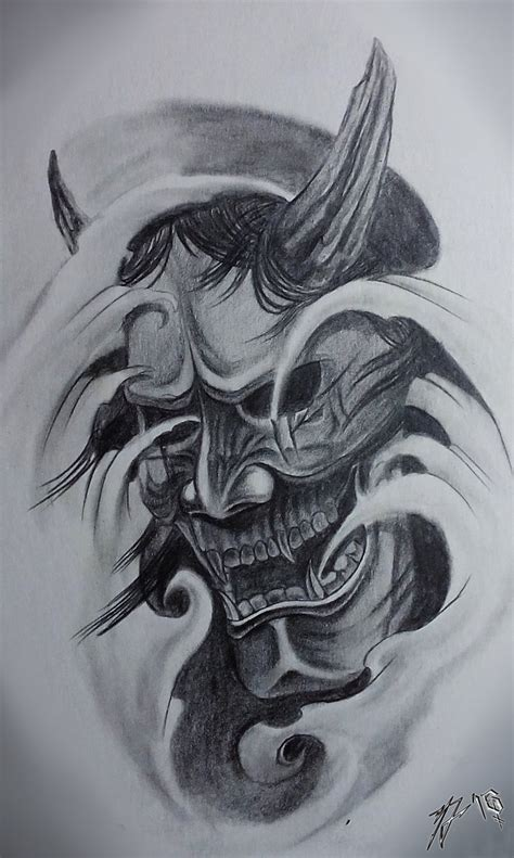 hannya tattoo designs hannya mask traditional classic by jackcoffins