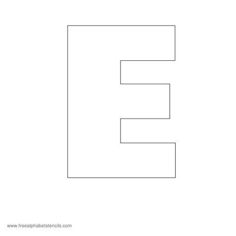 letter e template search results for free printable large letters to cut
