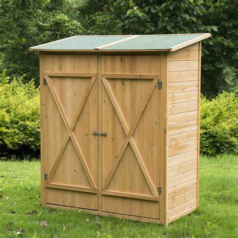 Outdoor Storage Cabinet Wood Home Furniture Design