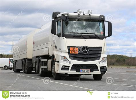 mercedes truck white white mercedes actros 2545 tank truck parked