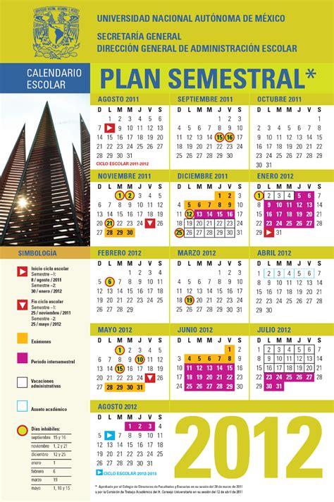 Calendario Escolar Unam Fes Acatlan Calendario Semestral Unam Apps Directories