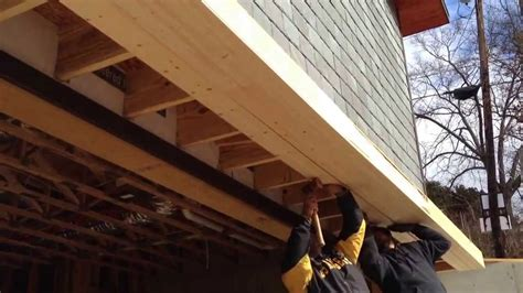 Plans To Build A Barn by Building A Roof Over The Garage Door Youtube