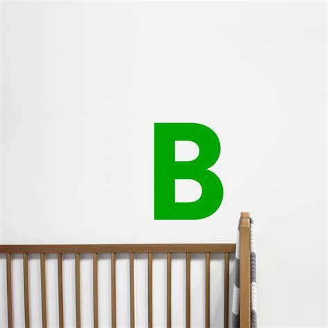 large letter wall stickers big letter wall sticker by chip notonthehighstreet