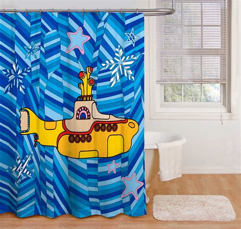 yellow submarine shower curtain beatles shower curtain yellow submarine beatles fab four