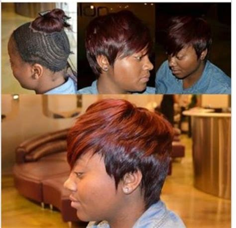 weave styles for growing out a pixie cut sew in pixie cut cut it all off so she look like eve