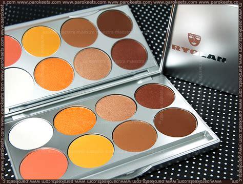 Eyeshadow Viva Orange kryolan eye shadows swatches