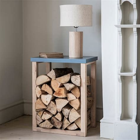 radius wooden tree store log storage side table
