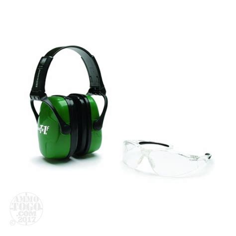 Howard Leight Shooting Combo Earmuffs Glasses Green R 01761 howard leight eye ear protection for sale at ammotogo