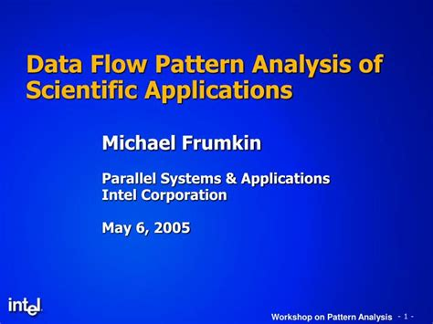 pattern analysis data ppt data flow pattern analysis of scientific