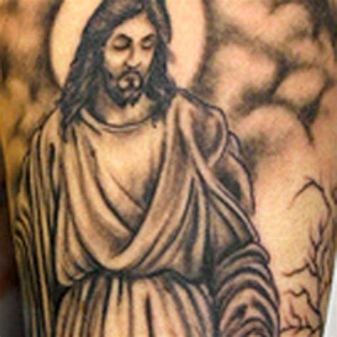 small jesus tattoos pin tribal to portrait traditional no is large