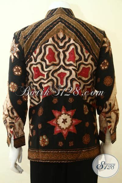 Batik Cowok Dewasa busana batik tulis klasik motif matahari pakaian batik