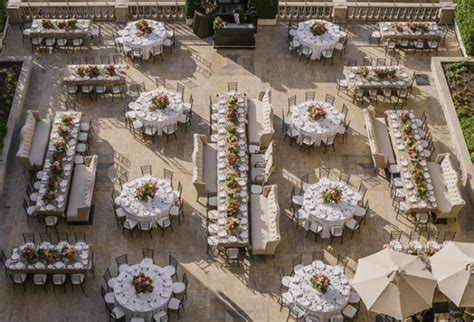 wedding reception layout long tables mix it up table shapes a day to remember