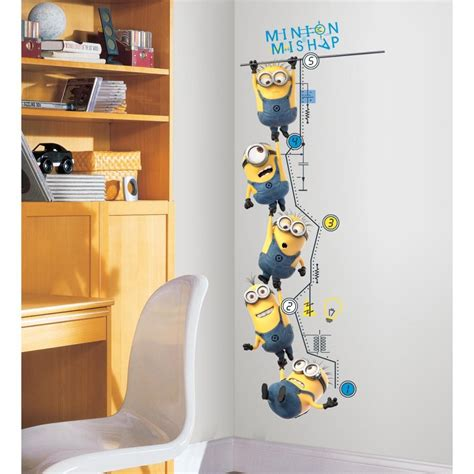 Murals For Outside Walls minions growth chart minion growth chart minion wall