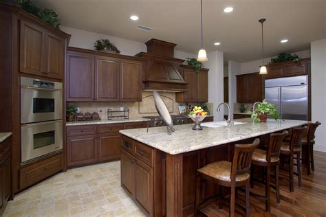 kitchen model sle homes with wood cabinets and wood floors