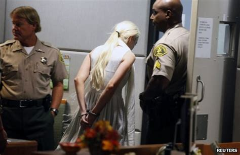 Handcuffed On Way To Court by Lindsay Lohan Handcuffed In La Court Probation Hearing
