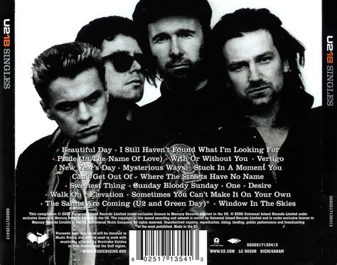 music on 1 musica z u2 beautiful day terbaru caratulas de cd de musica u2 u2 18 singles 2006