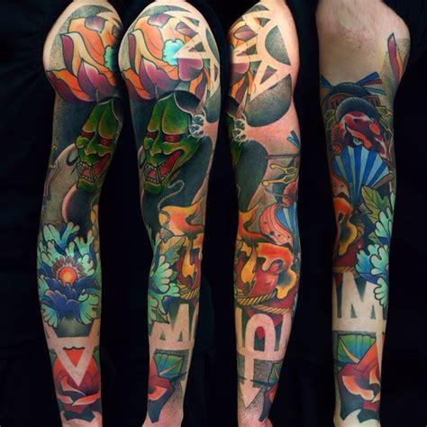 hannya mask tattoo sleeve sleeve tattoo by fishero freihand tattoo hannya mask is