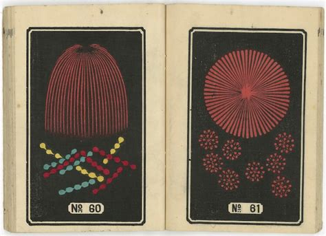 hundreds  japanese fireworks illustrations    century