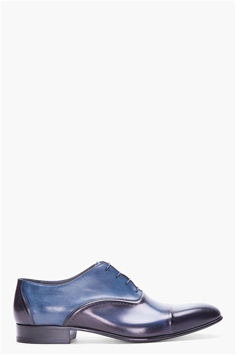 navy dress shoes for lyst lanvin navy toesade dress shoes in blue for