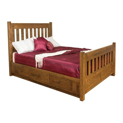 beds with rails timber bed with storage rails amish timber bed with