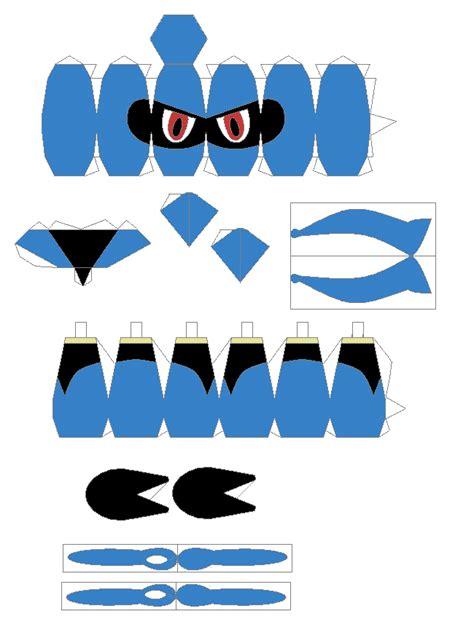 Lucario Papercraft - papercraft riolu