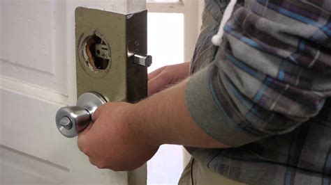 How To Replace A Front Door Knob by How To Replace An Exterior Door Knob Lock Door