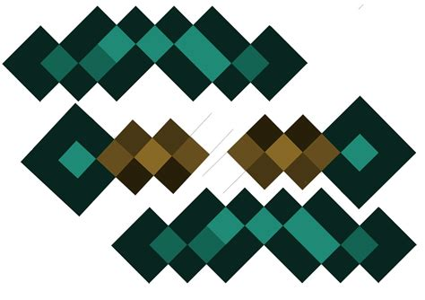 Minecraft Papercraft Sword - free minecraft pickaxe coloring pages