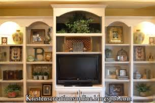 Decorating Built In Bookshelves Kristen S Creations Accessorized Bookcases