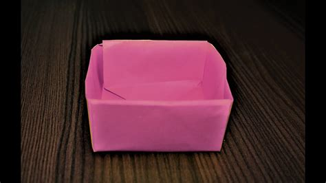 how to make an origami box with printer paper paper box
