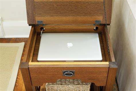 laptop computer end table laptop storage end table furniture