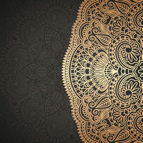 unique pattern vector lace decorative pattern vector background 03 vector