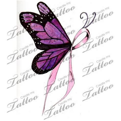 breast cancer butterfly tattoo designs cancer ribbon butterfly designs marketplace