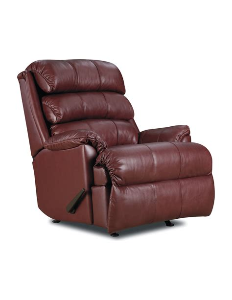 lane action recliners lane furniture revive leather rocker recliner with power
