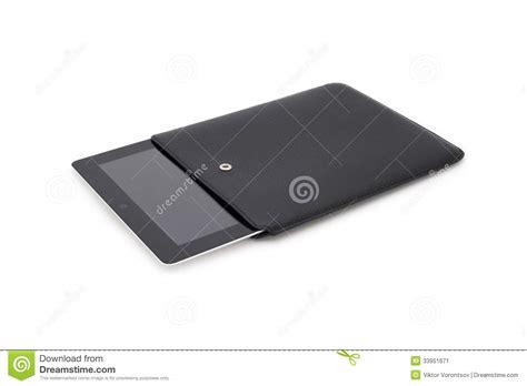 black apple ipad  leather case stock image image