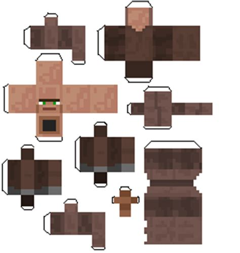 Minecraft Papercraft Villager - papercraft villager child