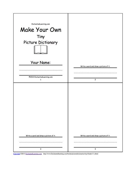 make my own picture book make your own tiny picture dictionary a book to