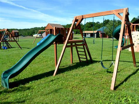 children s swing and slide sets children s swing sets playsets in vermont livingston farm