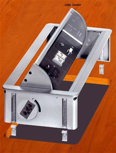 prise de bureau boitier support de prises escamotable le 2 mobilier de
