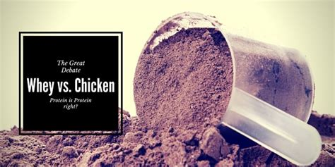 b protein vs whey protein how does whey protein compare to wholefood chicken protein