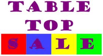 table top sale your local bury